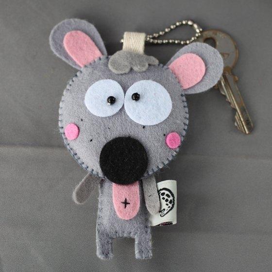 【hello】乳酪鼠不织布钥匙圈