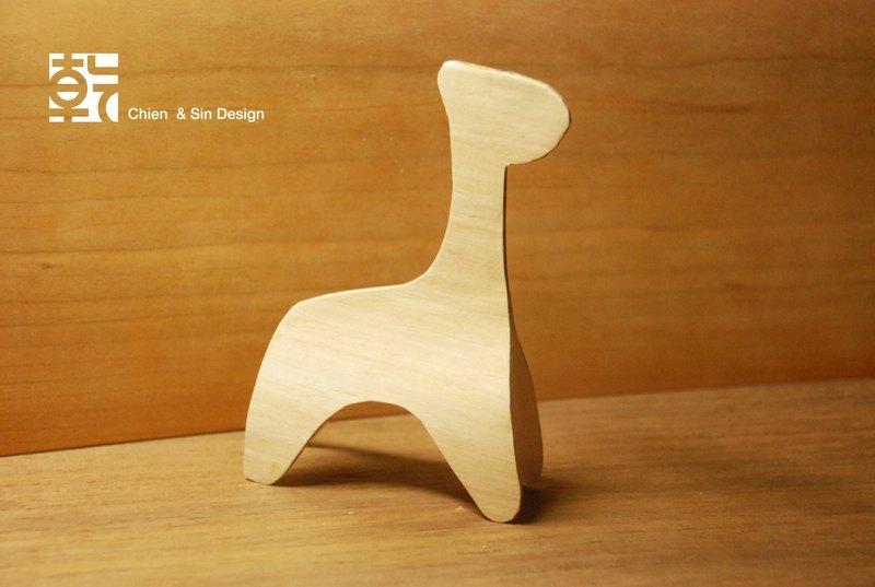 木头动物系列摆饰.长颈鹿 手工制作 限量商品