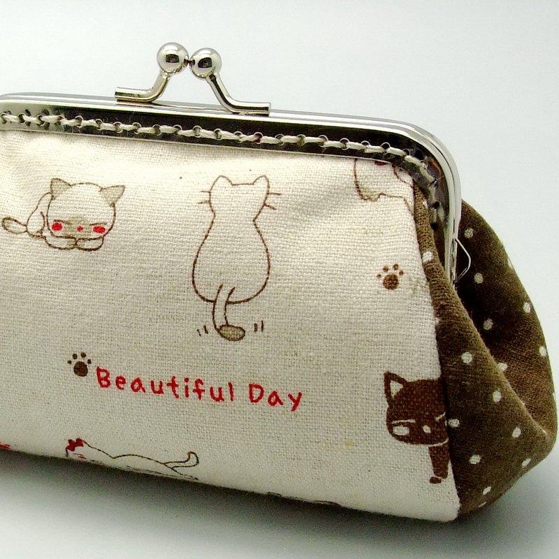 可爱小猫咪口金,零钱包
