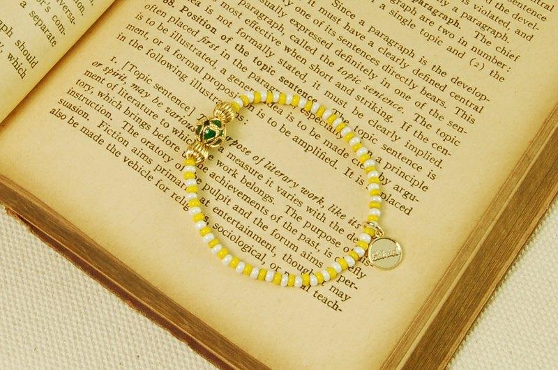 gbb004-南瓜马车铜珠串珠手环(双色)