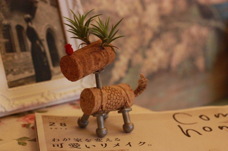 空气凤梨之软木塞麋鹿造型