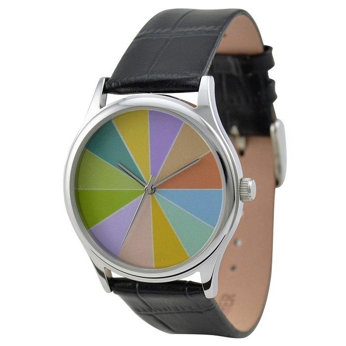 色彩缤纷的手表(淡色6等份) - 设计师品牌 s & m