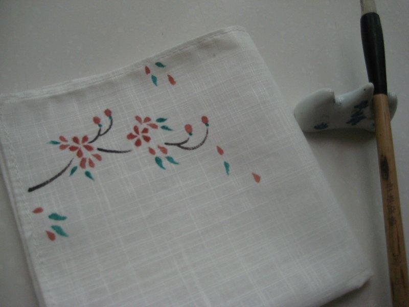 手绘棉麻手帕