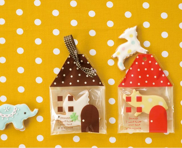 baking life * 小房子水玉烘焙点心袋1组5个包装袋