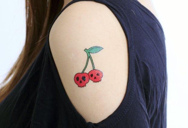 纹身樱桃图片卡通