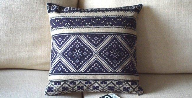 民族中国风美式乡村田园蜡染花纹沙发靠垫抱枕套图片