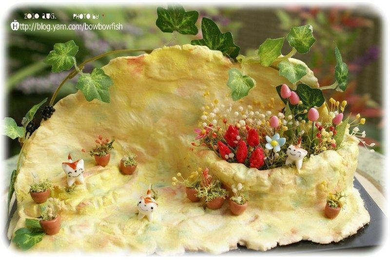 迷你森林动物系列黏土创作*猫咪花园