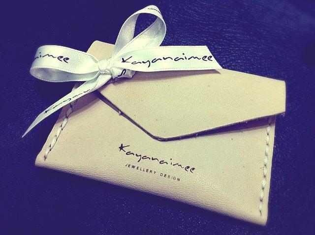 礼品包 - 人手缝制皮革信封包