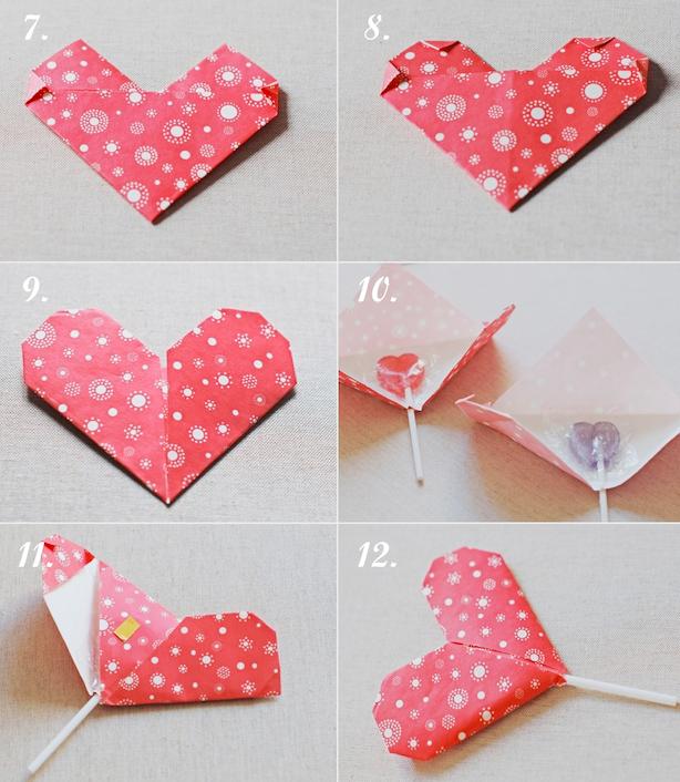 准备材料:色纸,剪刀,双面胶,棒棒糖   制作步骤如下图 资料来源