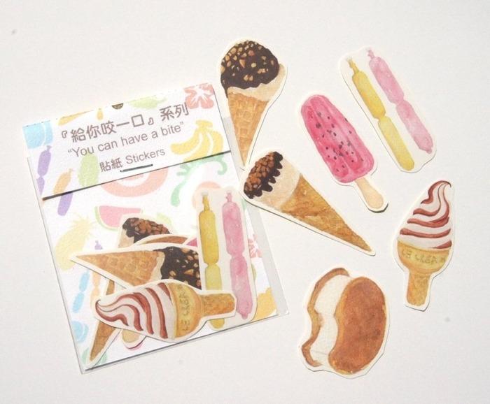 冰淇淋贴纸