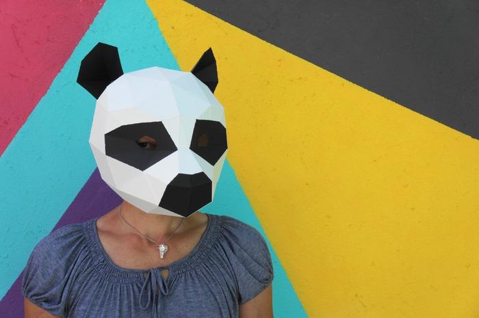 可以直接印出来的动物几何面具!