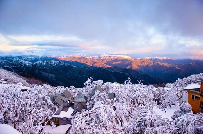 风景城堡图片下雪时