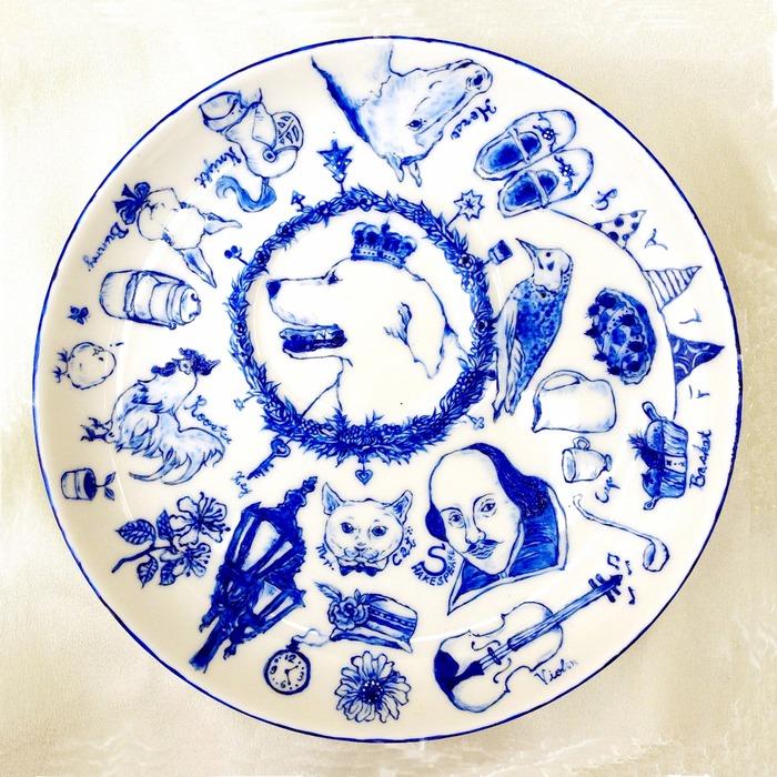 改由设计师手绘英式下午茶风的可爱插画
