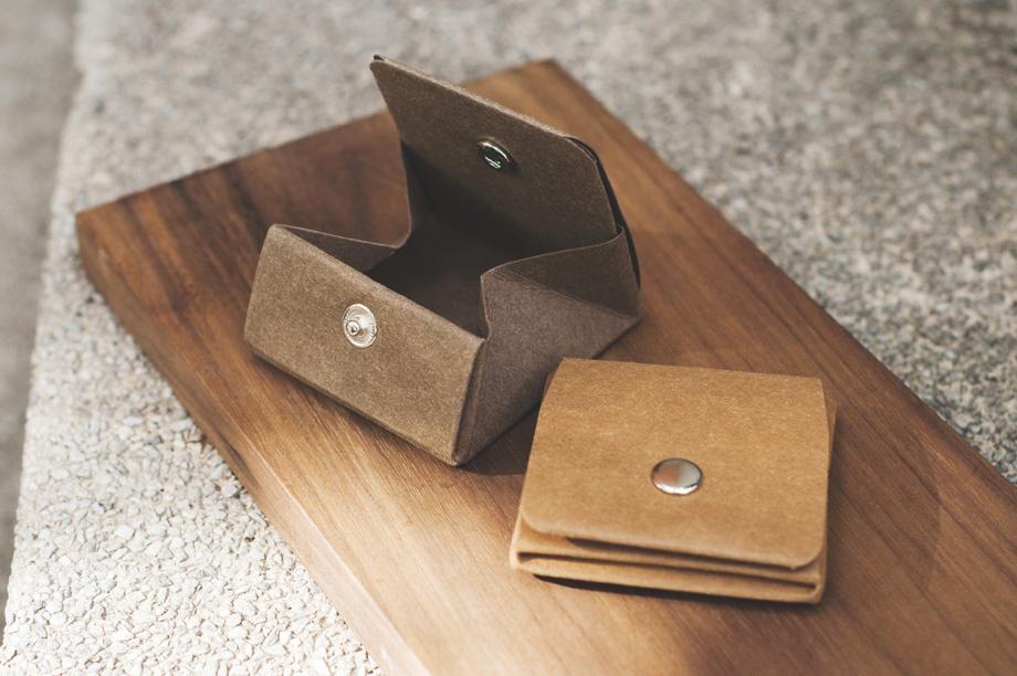 纸样方块牛皮纸零钱包