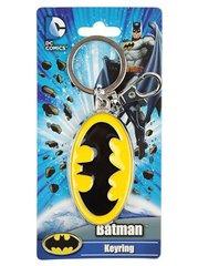 Batman Logo Colored Pewter Keychain