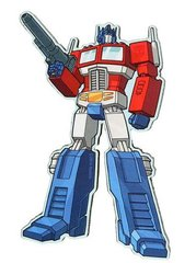 Transformer Funky Magnet Optimus Prime