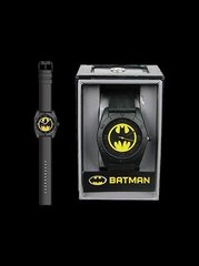 Batman Yellow Round Emblem Strap Watch