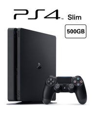 Playstation 4 Console - Slim (500GB, Black)