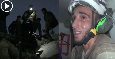 【戰火無情】頹垣敗瓦中救出女嬰 敘利亞救難員激動落淚