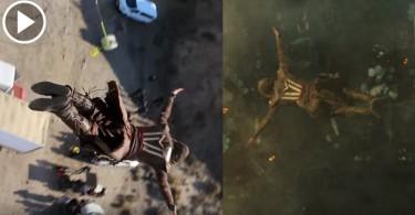 【真人演出】特技人38米高空跳下  重現《刺客教條》經典技能