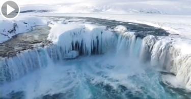 【鬼斧神工】黑龍江鏡泊湖瀑布  零下37度的凍結美