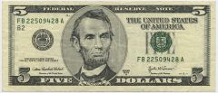 On currency 800px-US_$5_obverse.jpg