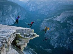 Base jumping In Yosemite.
