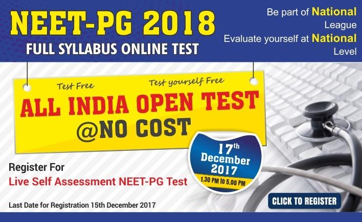 NEET PG ALL INDIA ONLINE OPEN TEST