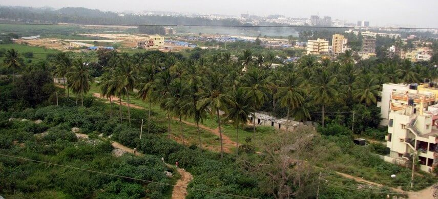 Top floor view from Keerthi Gardenia, Bengaluru. (Wikimedia)