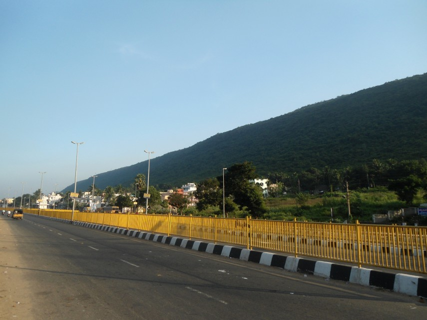BRTS_road_at_Arilova_in_Visakhapatnam