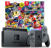 Nintendo Switch Console System Bundle (Mario Kart 8 Deluxe + Super Bomberman R)