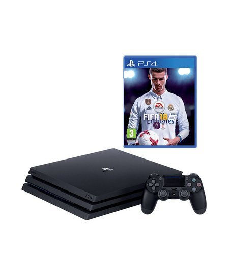 Playstation 4 Pro Console + FIFA 18 Bundle
