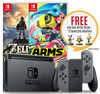 Nintendo Switch Console System Bundle (ARMS + The Legend of Zelda: BoTW)