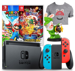 Nintendo Switch Console System Bundle (Mario + Rabbids Kingdom Battle & Pokken Tournament DX)