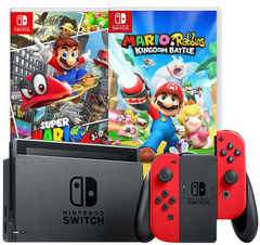 Nintendo Switch Console System (Super Mario Odyssey) 2 Games Bundle