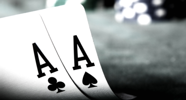Two ace cards representing a gambling scene