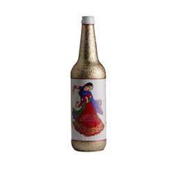 Dancing Girl - Gold and White Bottle