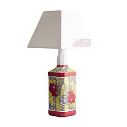 Floral Doodle White Lamp
