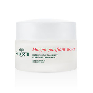 Clarifying cream mask with rose petals
