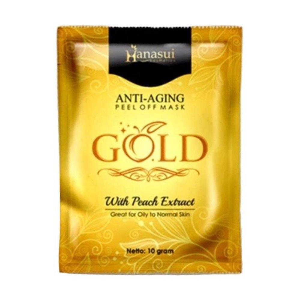 Hanasui Peel Off Mask Gold with Peach Extract