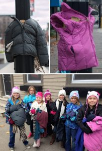 12-Kids Tied Coats To Street Poles In Canada To Help The Homeless Prepare For Winter