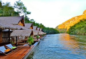 The Floathouse Experience a fancy boutique hideaway at Kwai river, Kanchanaburi