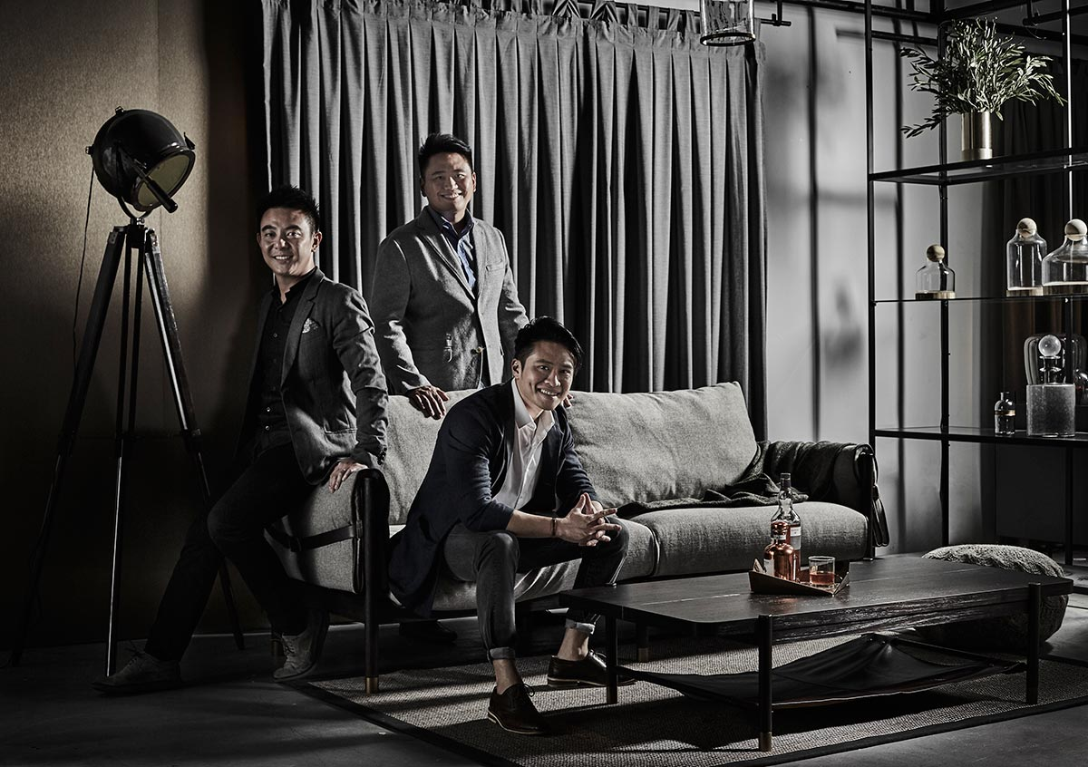 CMO and COO Gan Shee Wen, CEO Joshua Koh, and Brand and Design Director Julian Koh