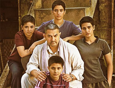 Aamir Khan With His Dangal Daughters  debutants, Fatima Sana Shaikh and Sanya Malhotra.jpg