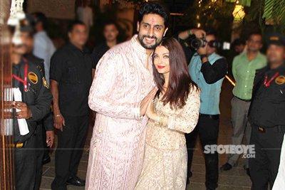 Abhishek and Aishwarya Rai at Amitabh Bachchan Diwali bash 2016.jpg