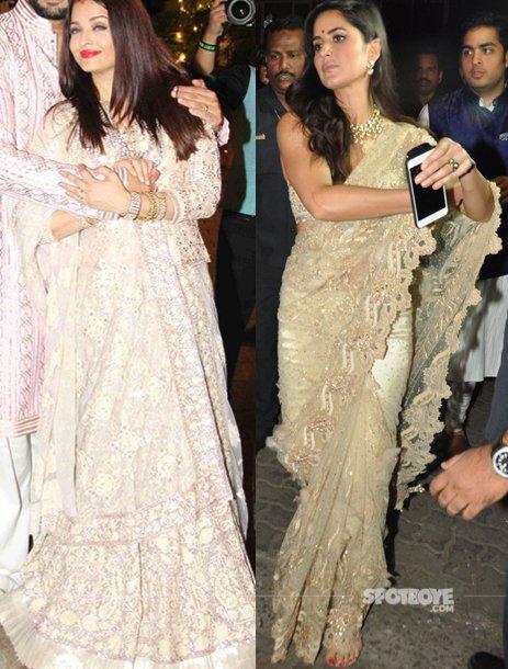 Aishwarya Rai Bachchan and Katrina Kaif at the Bachchan Diwali Bash - Fill Outfit.jpg