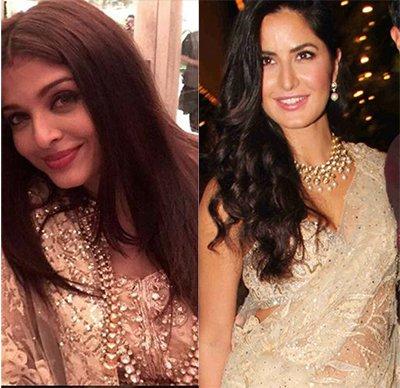 Aishwarya Rai Bachchan and Katrina Kaif at the Bachchan Diwali Bash - Jewellry.jpg