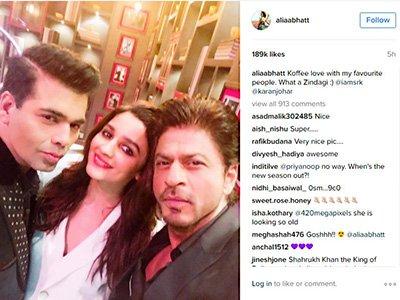 Alia Bhatt and Shah Rukh Khan on the sets of Koffee with Karan.jpg