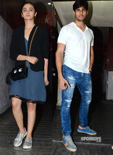 Alia Bhatt and Sidharth Malhotra at Ae Dil Hai Mushkil Screening.jpg