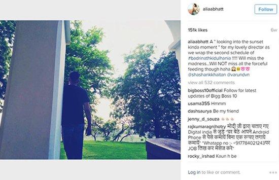Alia Bhatt shares a picture of Bhadrinath ki Dulhania director.jpg